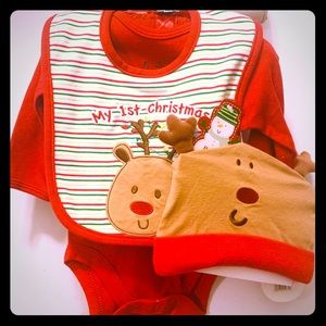 Baby Gear -My first Christmas Reindeer 3pc set NWT